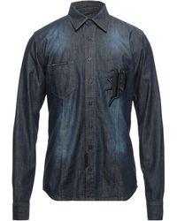 Philipp Plein Chemise en jean - Bleu