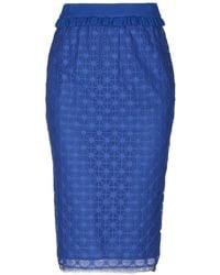 Pinko Falda a media pierna - Azul