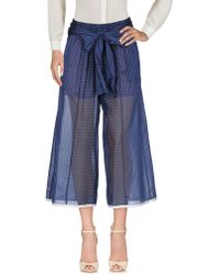 Erika Cavallini Semi Couture Pantalone - Blu