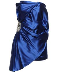 Amen Kurzes Kleid - Blau
