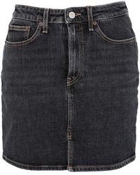 Jeanerica Jupe en jean - Noir