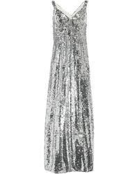 Mulberry 3/4 Length Dress - Metallic