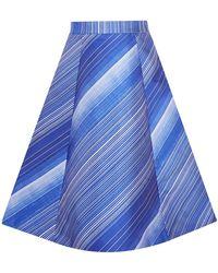Vika Gazinskaya Midi Skirt - Blue