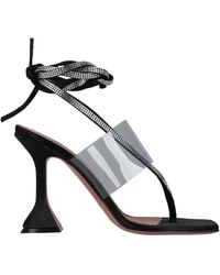 AMINA MUADDI Toe Strap Sandal - Black