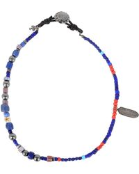 Peyote Bird Necklace - Blue