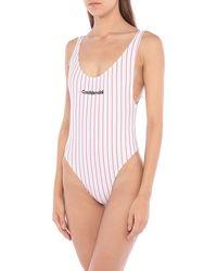 Marcelo Burlon One-piece Swimsuit - White