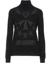 Love Moschino Cuello alto - Negro
