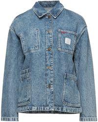 American Vintage Manteau en jean - Bleu