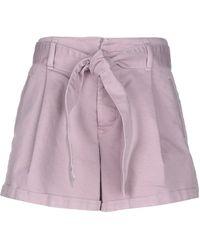 Jucca Denim Shorts - Purple