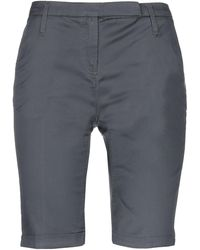 Blauer Bermudashorts - Grau