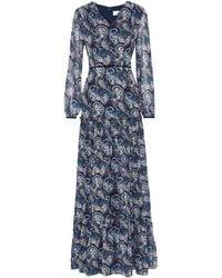 Mikael Aghal Langes Kleid - Blau