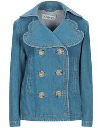Lanvin Manteau en jean - Bleu