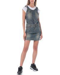 2W2M Overall Skirt - Blue