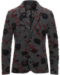 Grey Daniele Alessandrini Suit Jacket - Gray