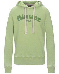 Blauer Sweatshirt - Grün