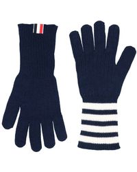Thom Browne Gloves - Blue
