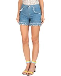 Boutique Moschino Denim Shorts - Blue