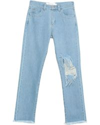 Marques'Almeida Pantaloni jeans - Blu