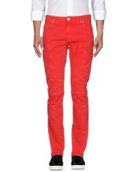 Balmain Pantalon en jean - Rouge