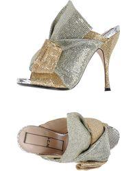 N°21 Sandals - Metallic