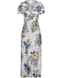 RIXO London Long Dress - White