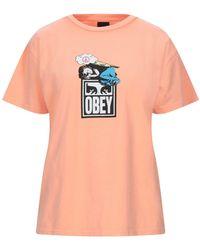 Obey T-shirts - Orange