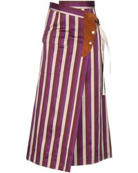 Golden Goose Deluxe Brand Long Skirt - Purple