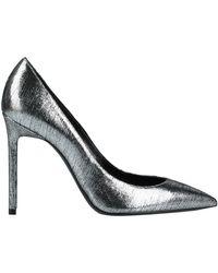 Saint Laurent Metallic Stiletto Court Shoes