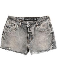Filles A Papa Denim Shorts - Grey
