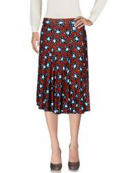 Stephan Janson Knee Length Skirt - Brown