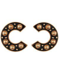 Roberto Cavalli Earrings - Black