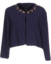 Clips Suit Jacket - Purple