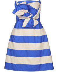 Delpozo Short Dress - Blue