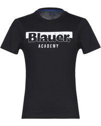 Blauer T-shirt - Black