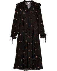 TOPSHOP 3/4 Length Dress - Black
