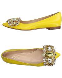 Gedebe Ballet Flats - Yellow