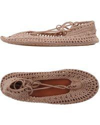 Alberta Ferretti Knitted Ballet Flats - Pink