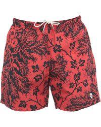 Alexander McQueen Short de bain - Rouge