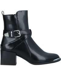 Lost Ink Ankle Boots - Black