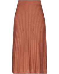 Suncoo 3/4 Length Skirt - Brown