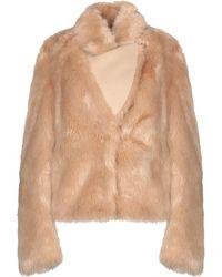 Patrizia Pepe Teddy Coat - Natural