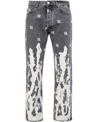 MISBHV Pantalon en jean - Noir