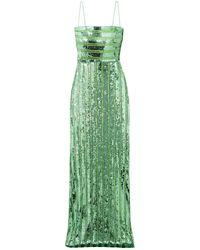 Galvan London Long Dress - Green