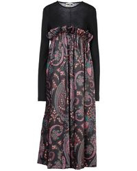 Hache 3/4 Length Dress - Black