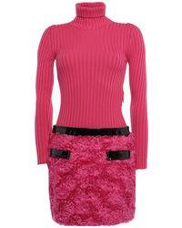 Moschino Kurzes Kleid - Pink
