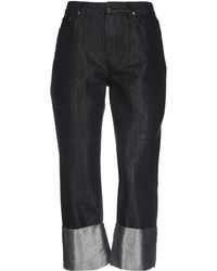 Alberta Ferretti Pantalon en jean - Noir
