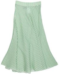 History Repeats Long Skirt - Green