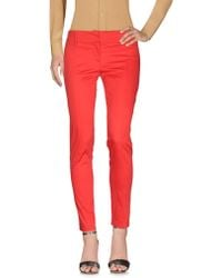 Patrizia Pepe Casual Trousers - Red