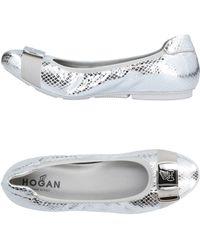 Hogan Ballet Flats - Metallic