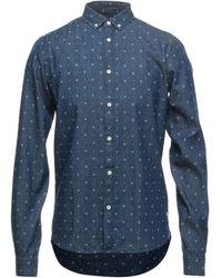 Solid Denim Shirt - Blue